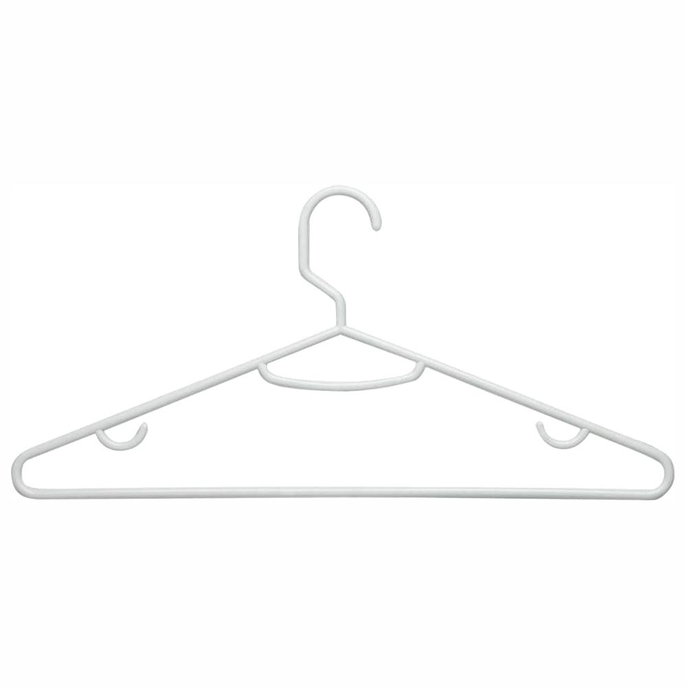 Honey-Can-Do HNGT01195 Lightweight Tubular Hangers White 60-Pack