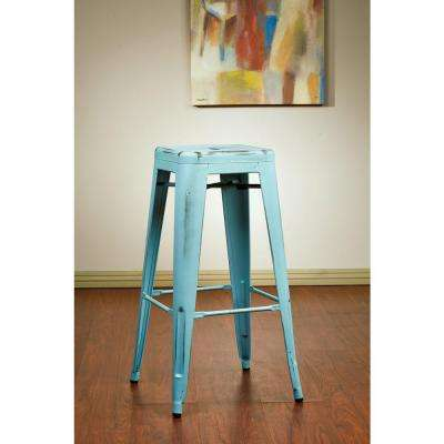 Bristow 30 in. Antique Sky Blue Bar Stool (Set of 2)