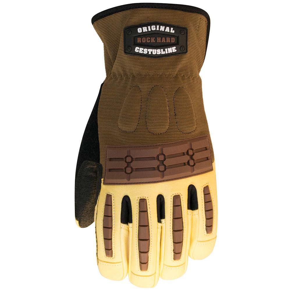 XL Brown Rock Hard Original Gloves