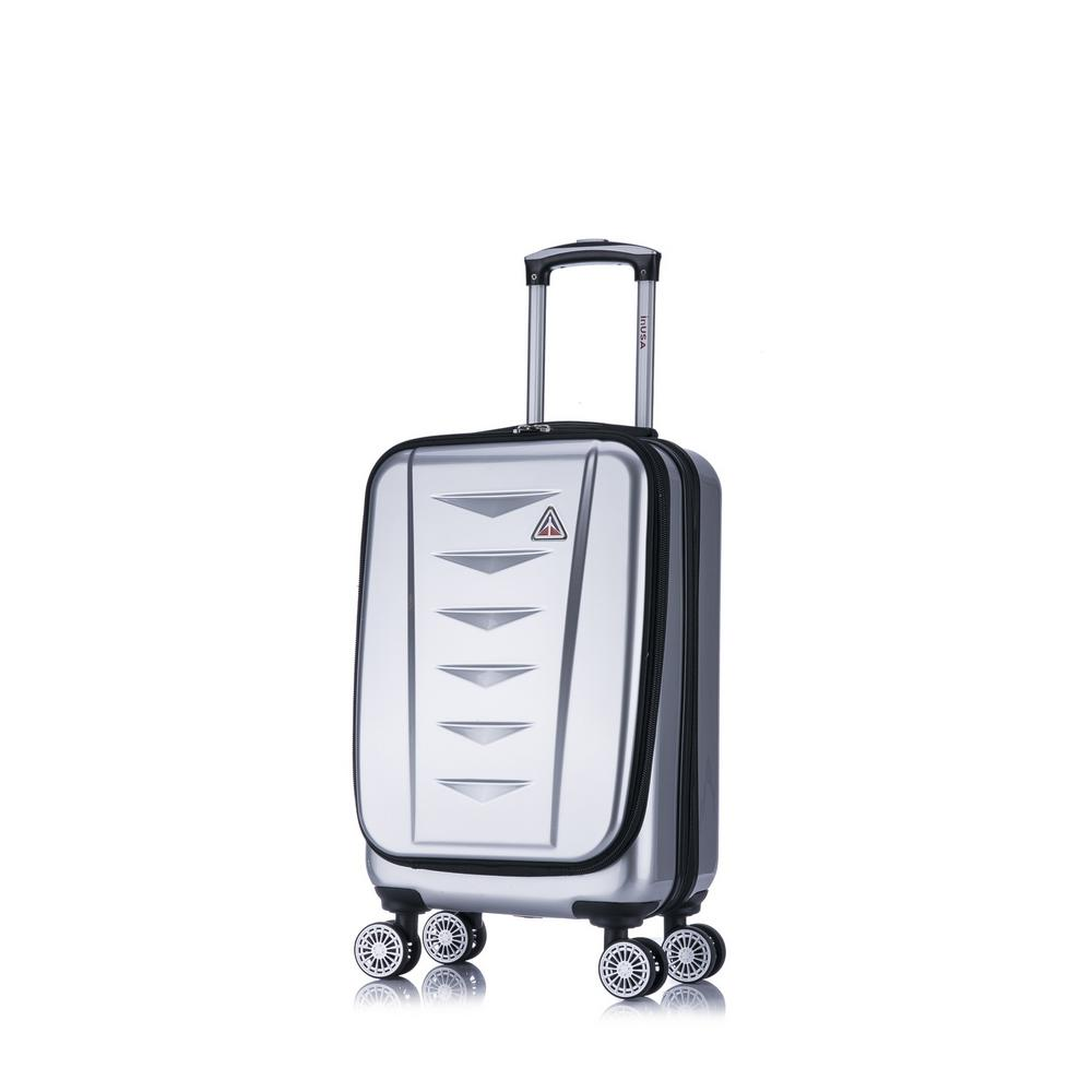 AirWorld lightweight hardside spinner 20 in. carry-on Silver