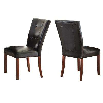 Granite Bello Black Parsons Chair (Set of 2)