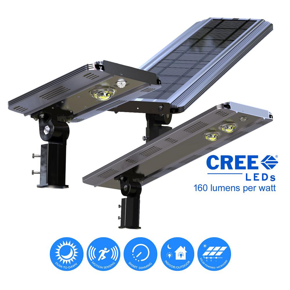 Solar Power SMART 1600LM Motion Sensing Outdoor Integrated CREE LED Brown