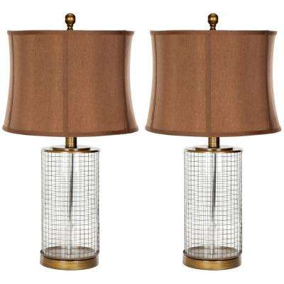 Aerie 26.5 in. Brown Glass Table Lamp (Set of 2)