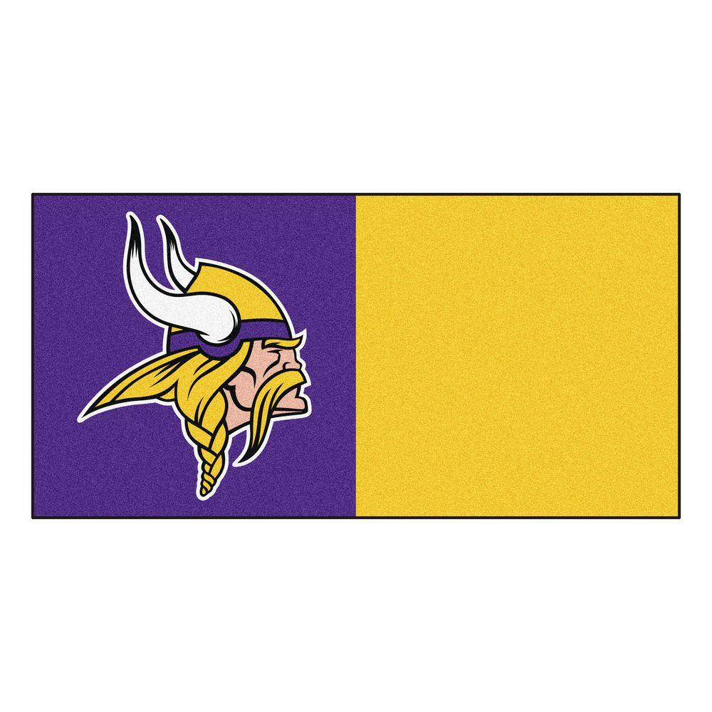 b418ab445fb NFL - Minnesota Vikings Purple and Gold Nylon 18 in. x 18 in. Carpet Tile  (20 Tiles/Case)