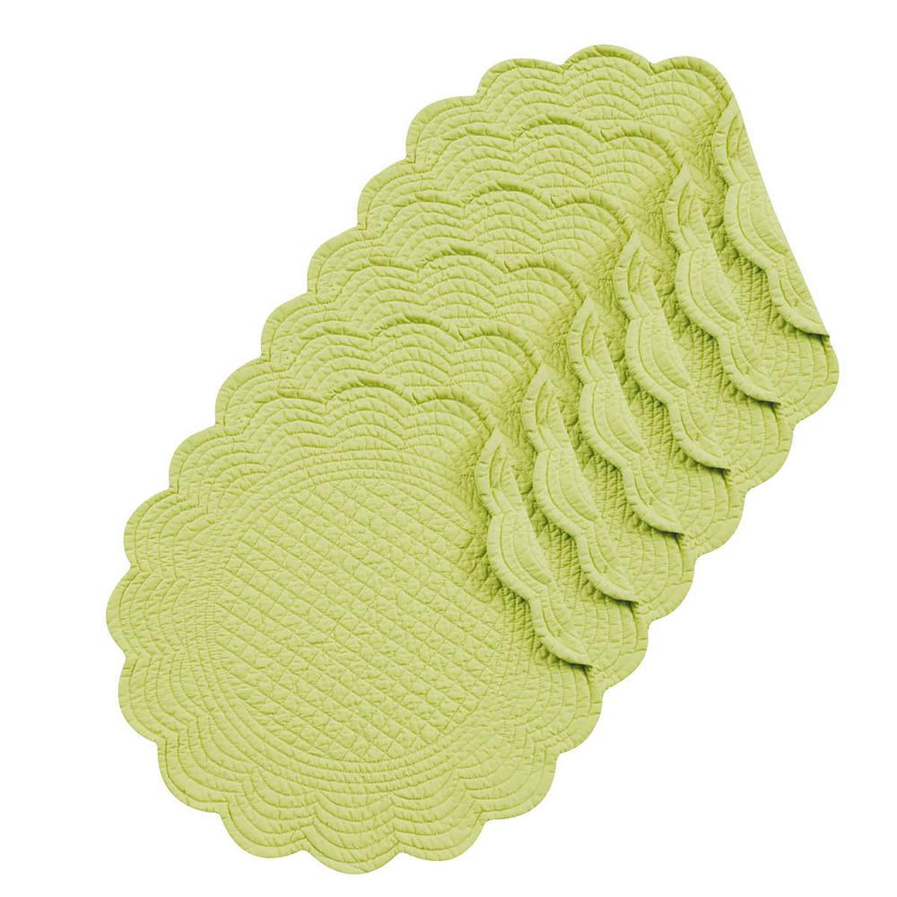 Apple Green Round Placemat (Set of 6)