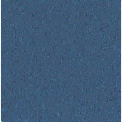 Take Home Sample - Imperial Texture VCT Gentian Blue Standard Excelon Commercial Vinyl Tile - 6 in. x 6 in.