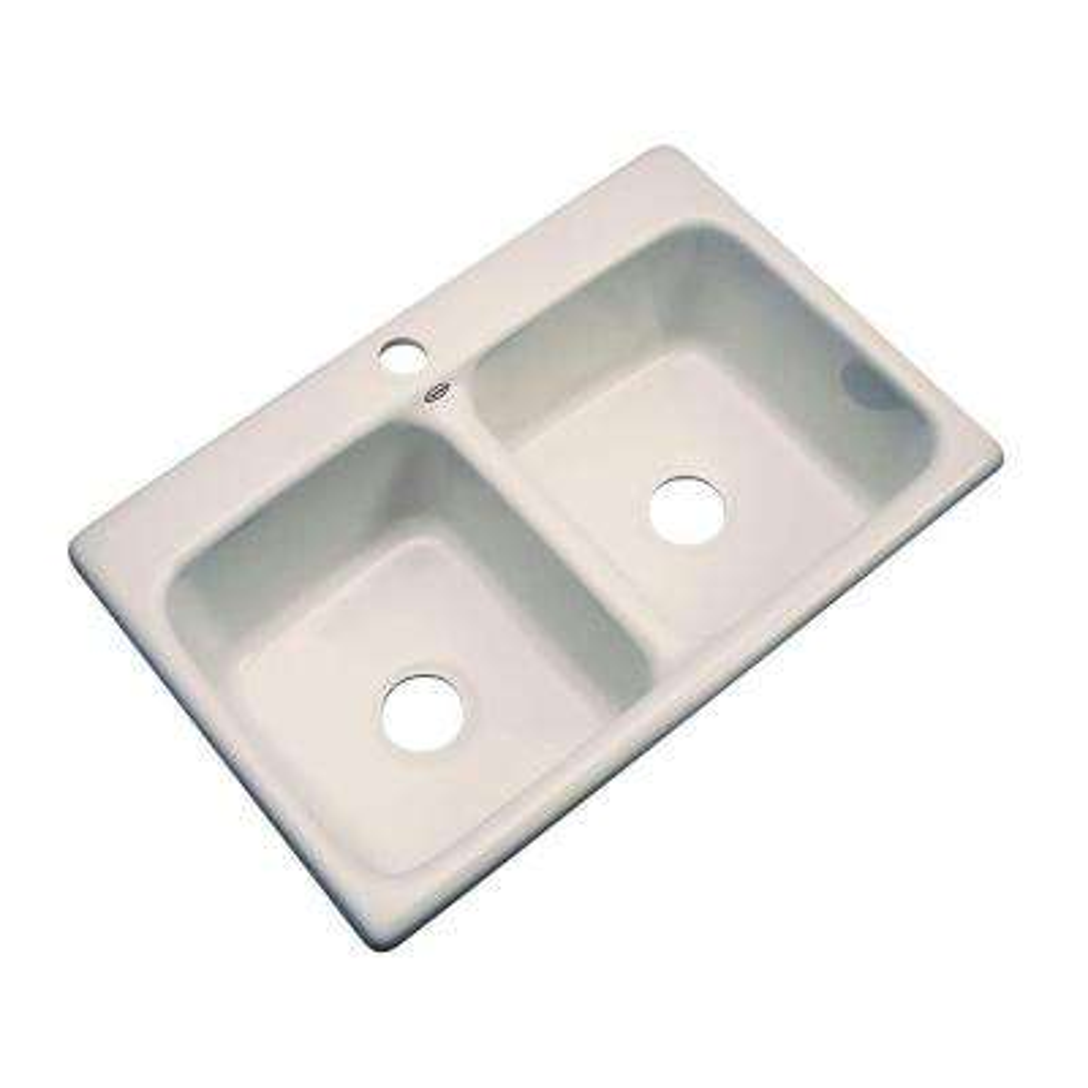 Newport Drop-in Acrylic 33x22x9 in. 1-Hole Double Bowl Kitchen Sink in Desert Bloom