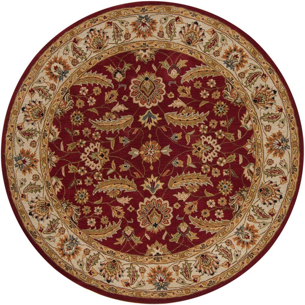 Artistic Weavers John Red 8 ft. x 8 ft. Round Area Rug