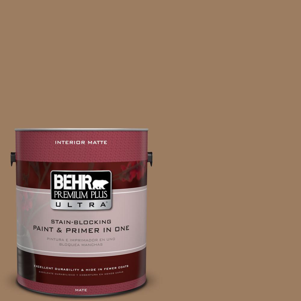 1 gal. #BXC-08 Safari Brown Matte Interior Paint