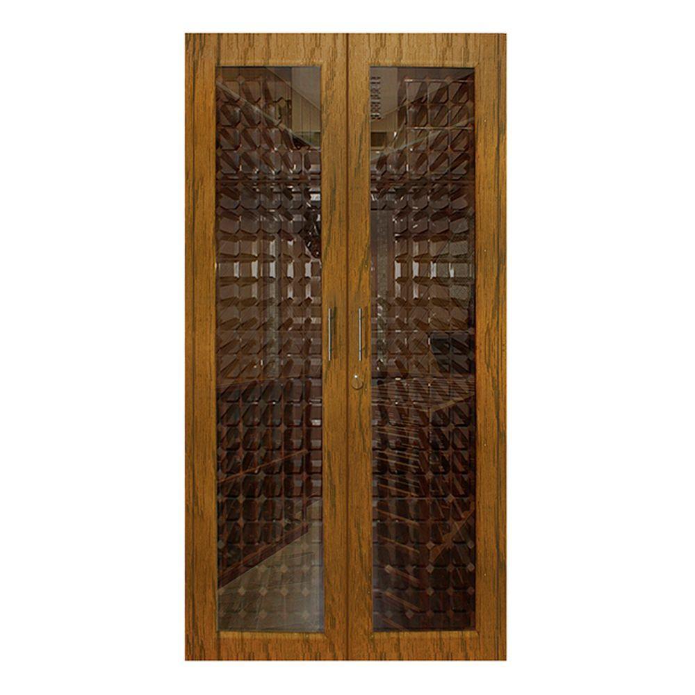 280-Bottle Decorative Wine Cellar in Medium Walnut