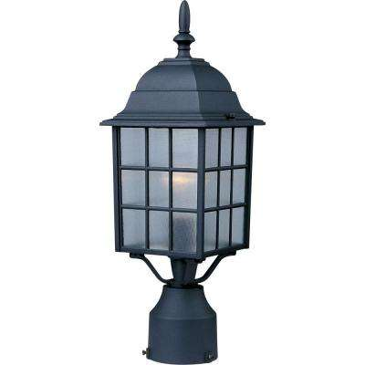 North Church 1-Light Black Outdoor Pole/Post Mount