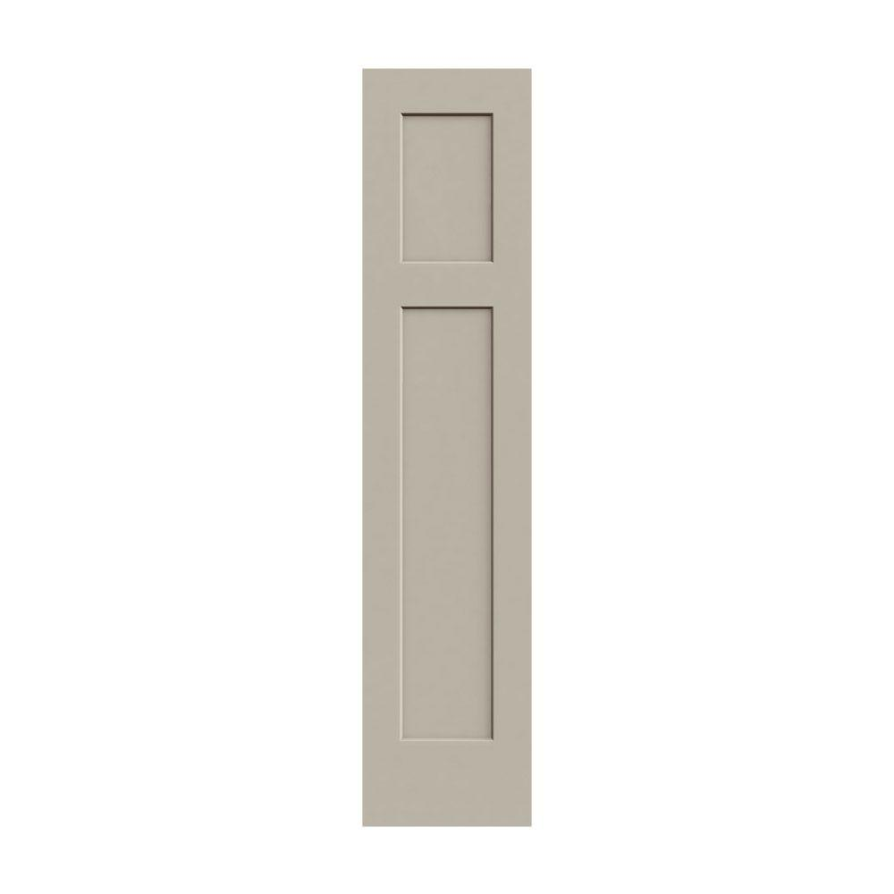 Jeld wen 18 in x 80 in craftsman desert sand painted for 18 door
