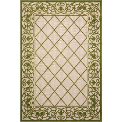 Green Trellis Outdoor Rugs Rugs The Home Depot