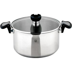 ARON 5.3 Qt. Stainless Steel Stock Pot with Swivel Handles and Strainer Lid