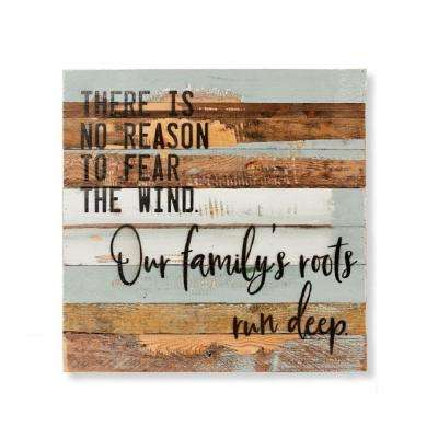 """Our Family Roots"" Reclaimed Wood Decorative Sign"
