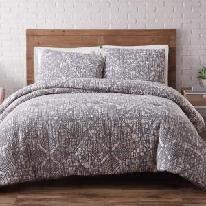 Brooklyn Loom Sand Washed Cotton King Comforter Set in Frost Gray by Brooklyn Loom
