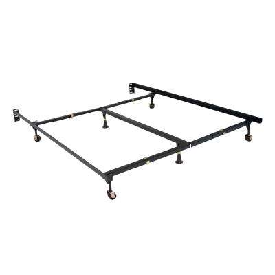 Premium Elite Clamp Style Queen Adjustable All Sizes Bed Frame with 6-Legs