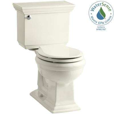 Memoirs Stately 2-piece 1.28 GPF Round Toilet with AquaPiston Flushing Technology in Biscuit