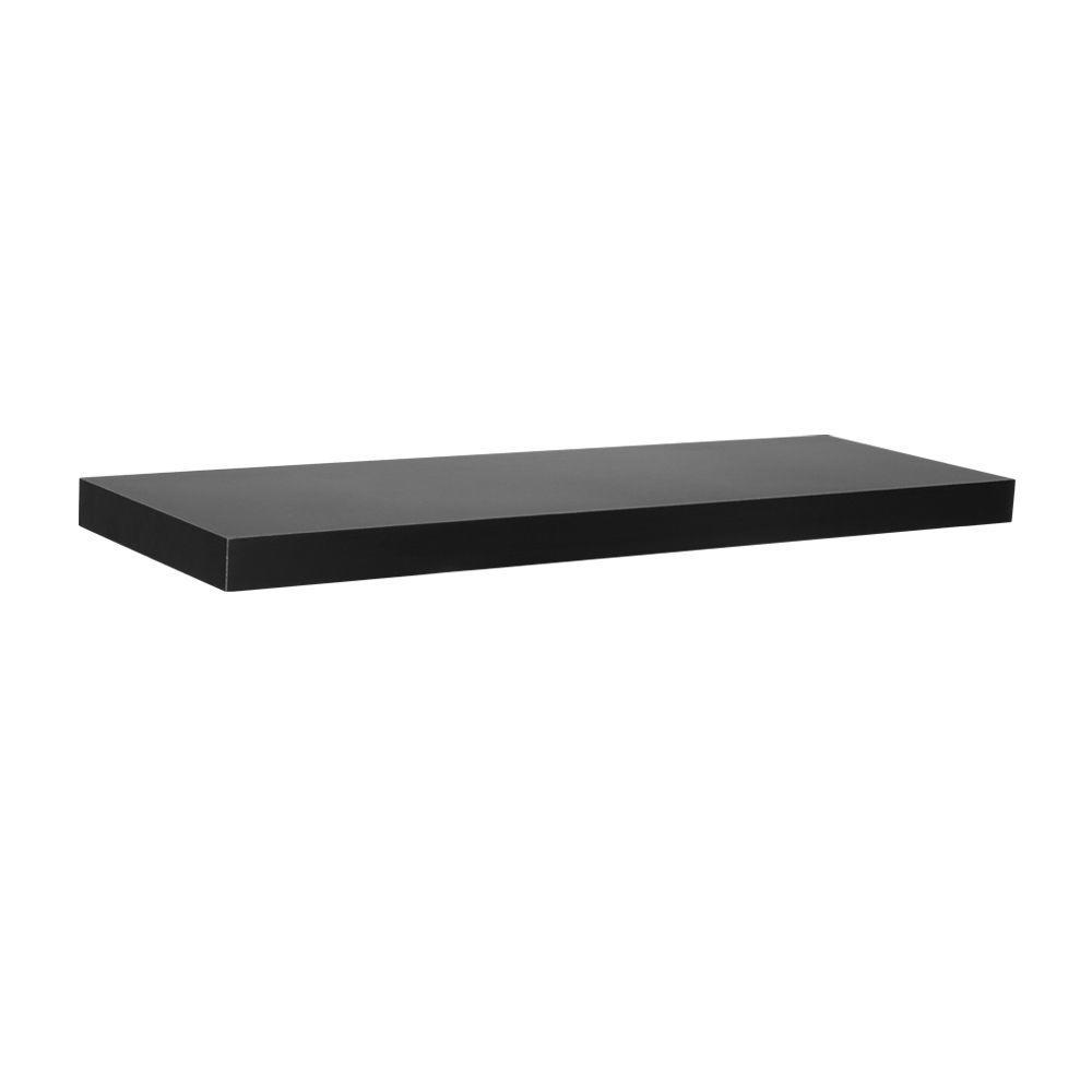24 in. L x 7.75 in. W Slim Floating Black Shelf