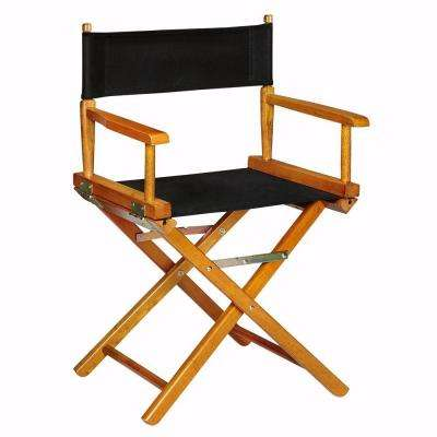 Honey Wood Folding Director's Chair