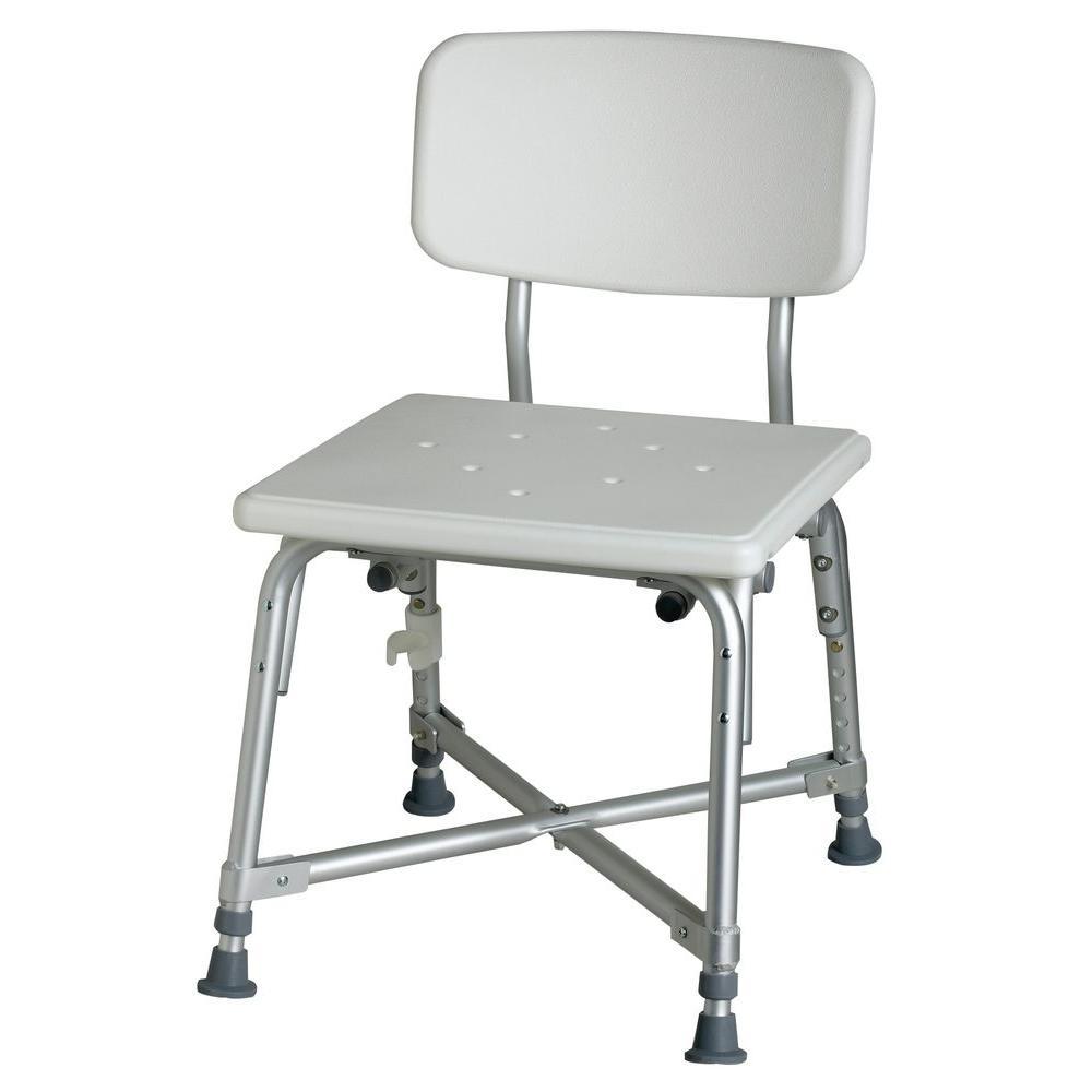 Medline Bath Safety Bariatric Bath Chair With Back