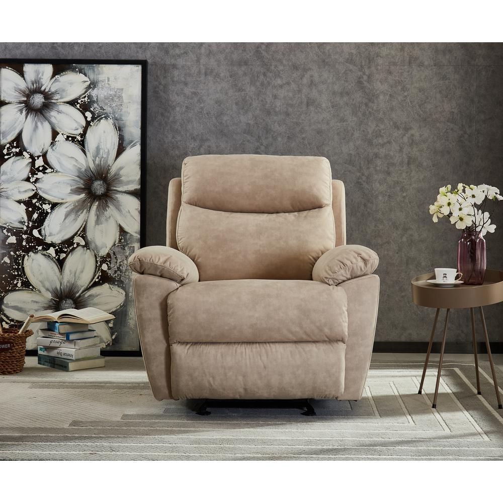 Boyel Living Beige Manual Ergonomic Recliner For Living Room Chair