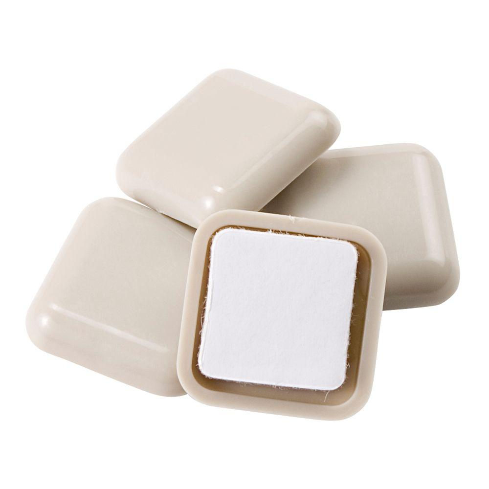 1 in. Square Adhesive Slider (4-Pack)