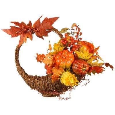 Harvest Accessories 23 in. Autumn Cornucopia Basket