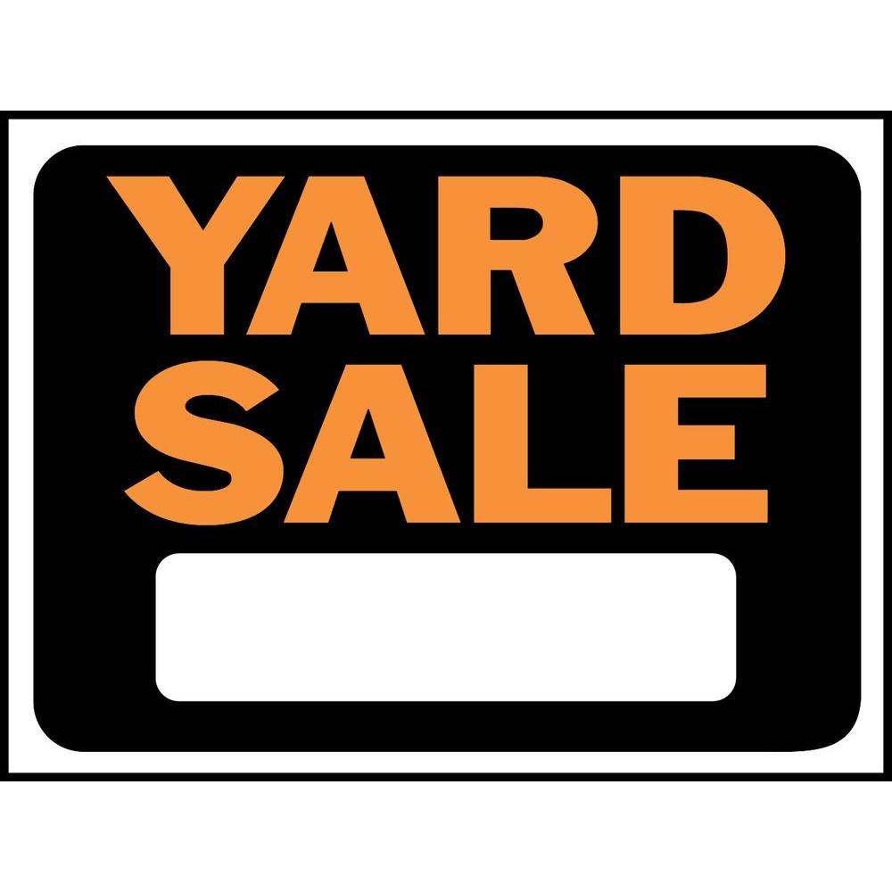 Hy Ko 9 In X 12 In Plastic Yard Sale Sign 3033 The Home Depot