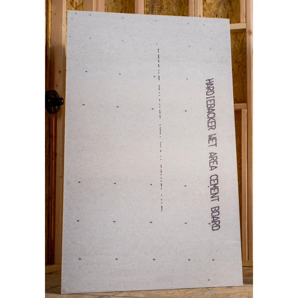 James Hardie HardieBacker 3 ft. x 5 ft. x 0.42 in. Cement ...