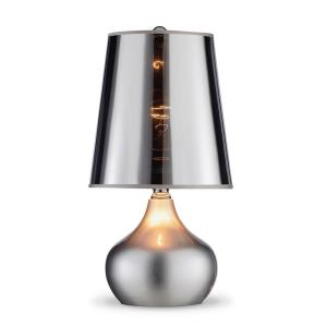 18 inch Luster Silver Touch-On Table Lamp by