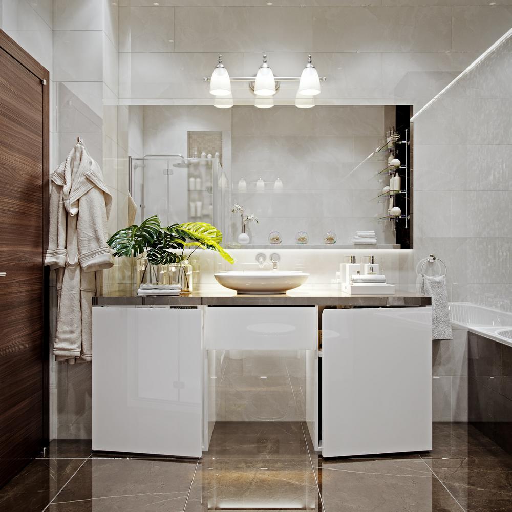 Diana 3-Light Satin Nickel Bath Vanity Light