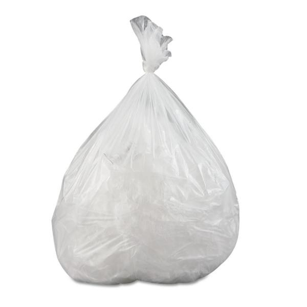 24 in. x 33 in. 16 Gal. 0.35 mil Clear Low-Density Commercial Trash Can Liners (50-Bags/Roll, 20-Rolls/Carton)