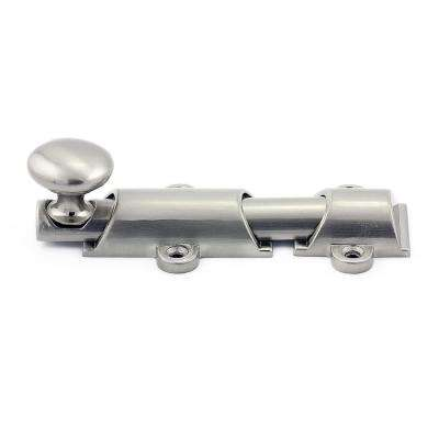 3-15/16 in. Brushed Nickel Surface Bolt Kit