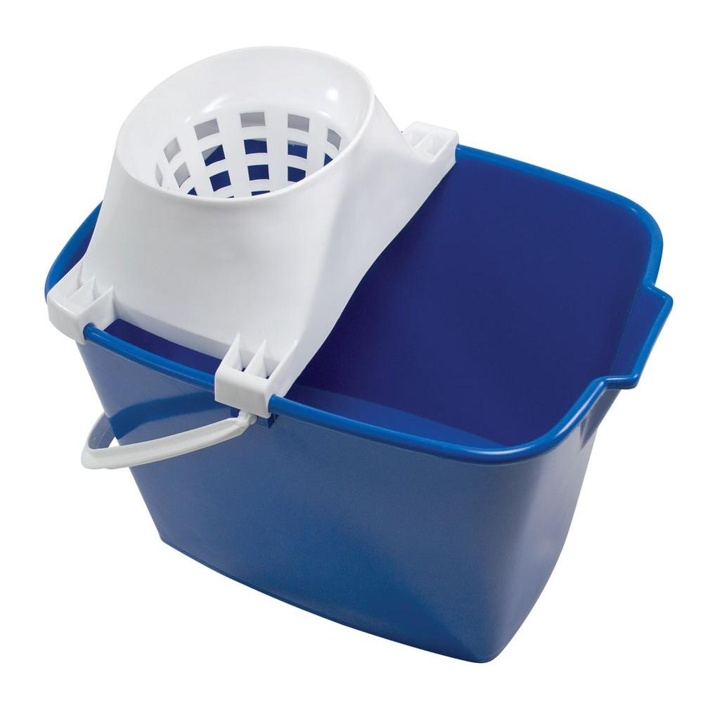 Ti-Dee American 15 Qt. Rectangular Mop Bucket with Mop Twister (6-Pack)