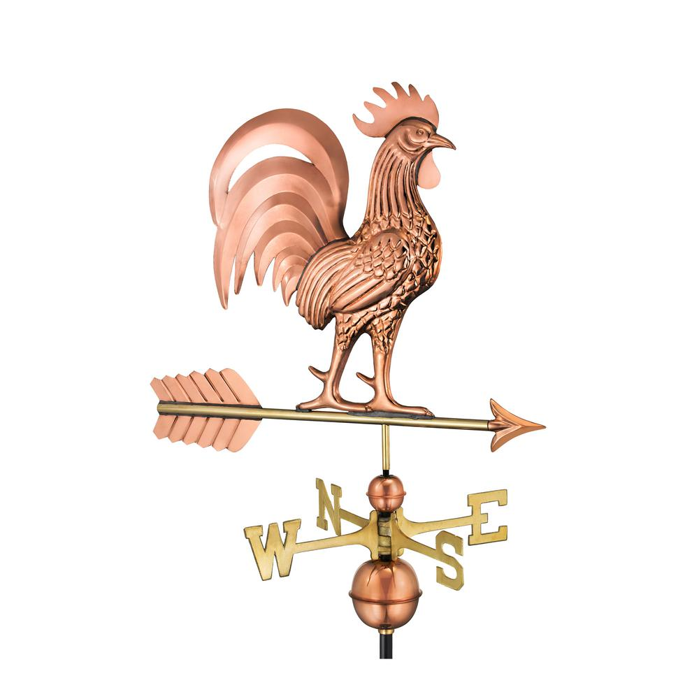 Proud Rooster Weathervane - Pure Copper