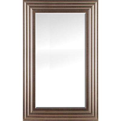 26.50 in. x 42.50 in. x 0.75 in. Chrome Silver Beveled Decorative Wall Mirror