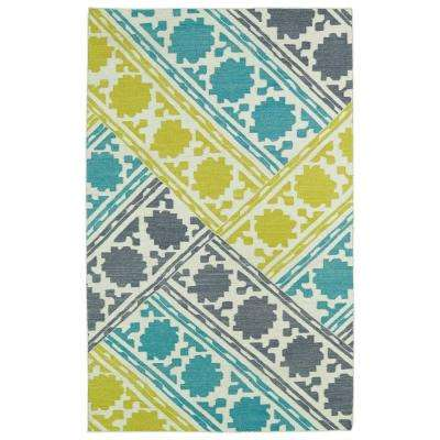 Glam Turquoise 2 ft. x 3 ft. Area Rug