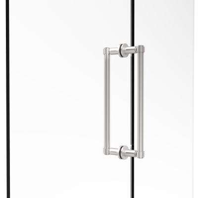 Contemporary 12 in. Back-to-Back Shower Door Pull in Satin Chrome