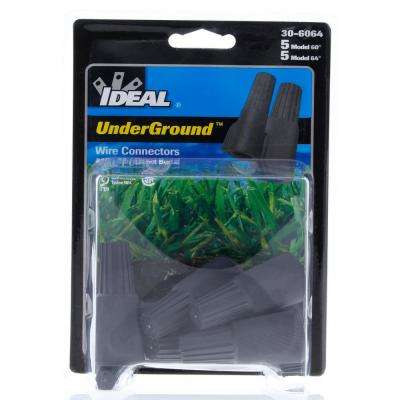 60/64 Models UnderGround Wire Connectors, Gray/Blue (10 per Card)