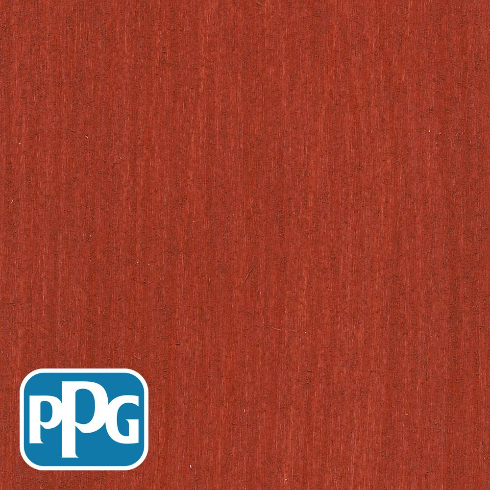PPG TIMELESS 1 gal. TSN-4 Navajo Red Satin Semi-Transparent Advanced Oil Exterior Wood Stain