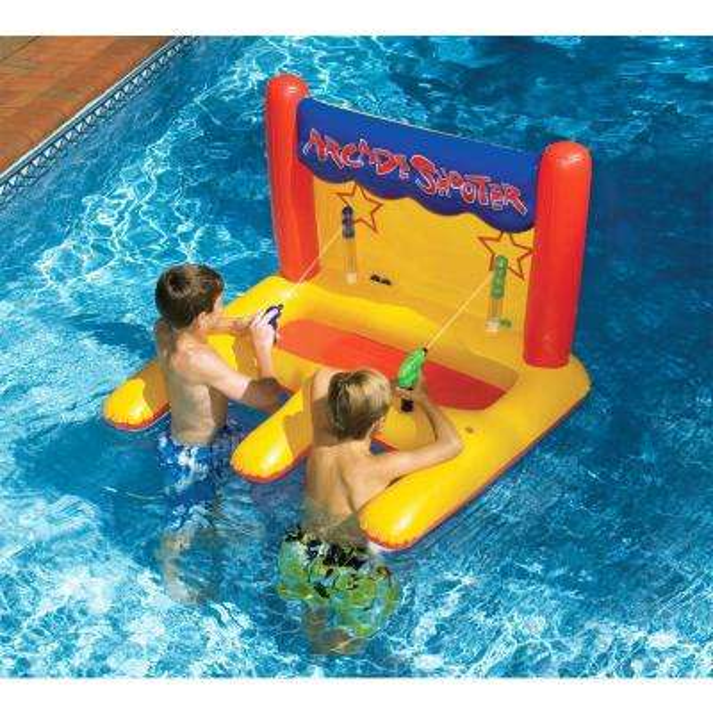 Dual Water Gun Inflatable Arcade Shooter Pool Game
