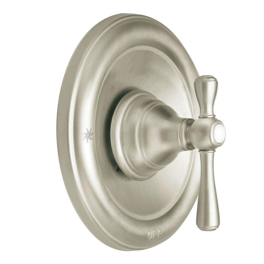 moen kingsley 1 handle moentrol valve trim kit in brushed nickel