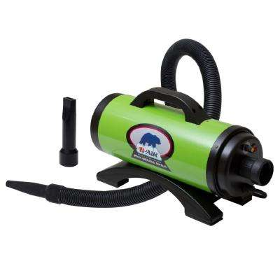 Bear Pro HP High Velocity Pet Groomer Dog Dryer in Lime Green