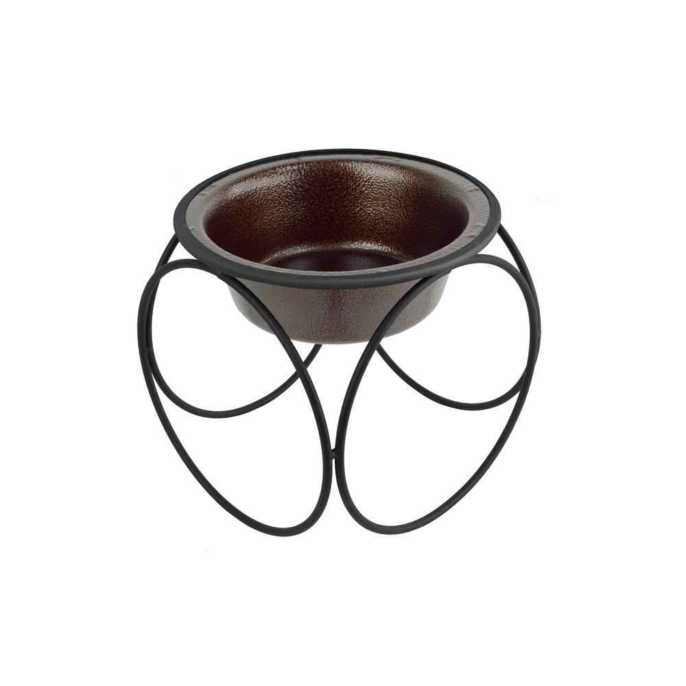 Platinum Pets 1.25 Cup Olympic Single Diner Feeder with Dog/Cat Bowl, Copper Vein