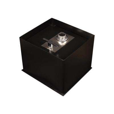 0.68 cu. ft. Steel Floor Safe with Mechanical/Dial Lock, Black