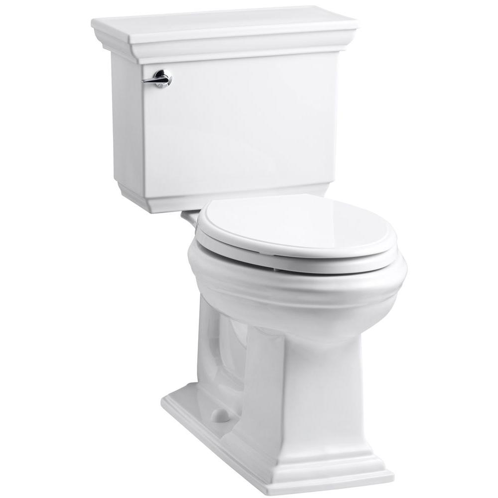 KOHLER Memoirs Stately 2-Piece 1.6 GPF Single Flush Elongated Toilet with AquaPiston Flush Technology in White