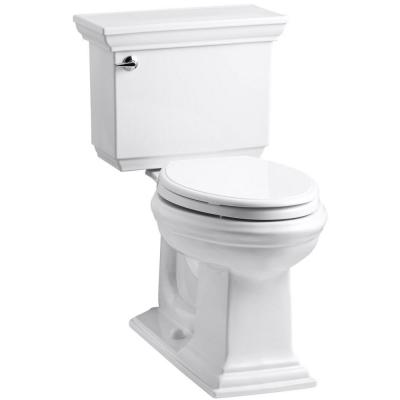 Memoirs Stately 2-Piece 1.6 GPF Single Flush Elongated Toilet with AquaPiston Flush Technology in White