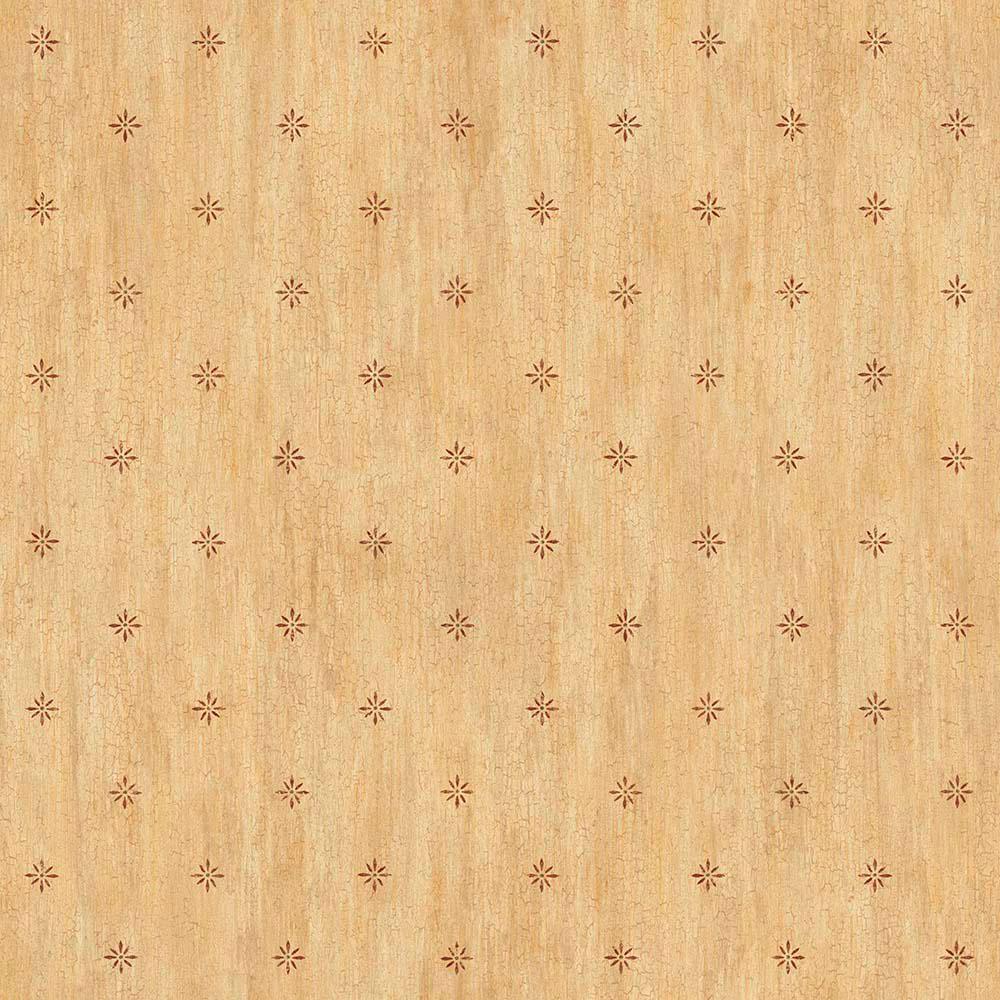 Chesapeake Sandalwood Sand Stencil Starburst Toss Wallpap...
