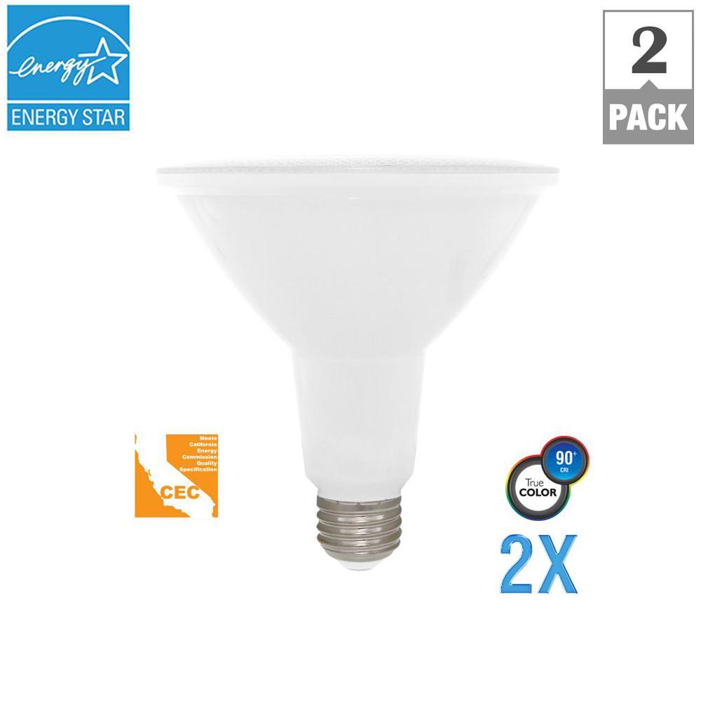 Euri Lighting 100W Equivalent Soft White PAR38 Dimmable LED CEC-Certified Light Bulb (2  sc 1 st  Home Depot & Euri Lighting 100W Equivalent Soft White PAR38 Dimmable LED CEC ...